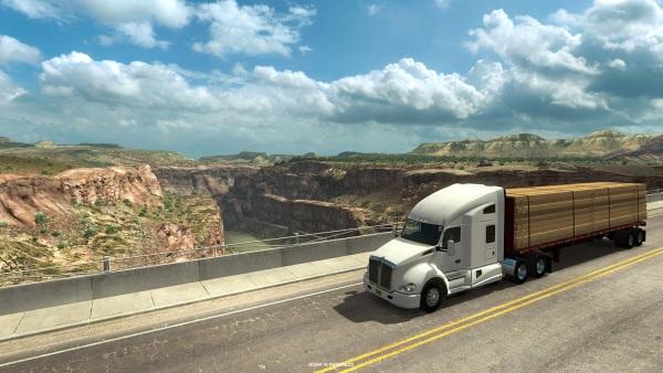 American Truck Simulator Nevada a New Mexico