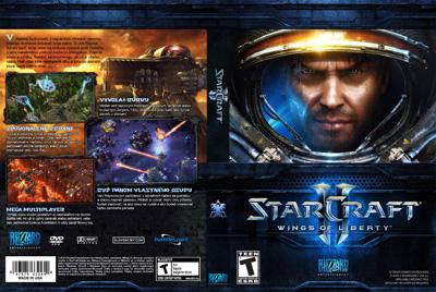 Slovenský obal k hre Starcraft 2 - Wings of Liberty na PC.